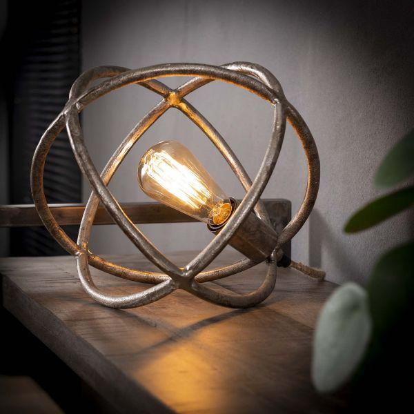 Tafellamp Ø30 atoom - Antiek Nikkel