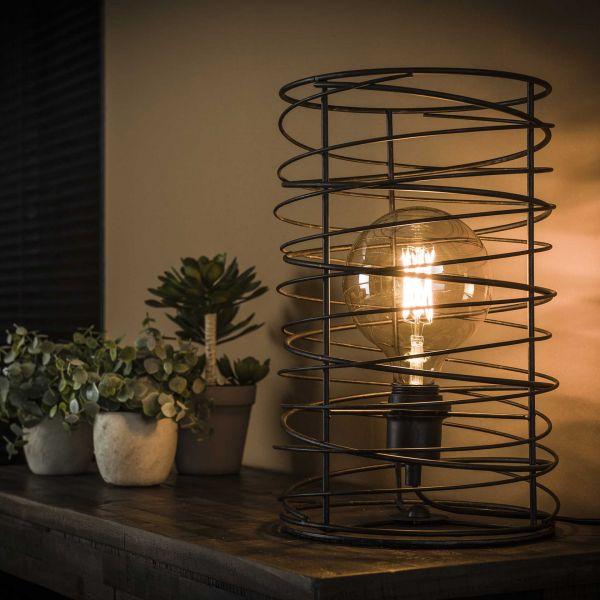 Tafellamp spiraal Ø22 cilinder - Charcoal
