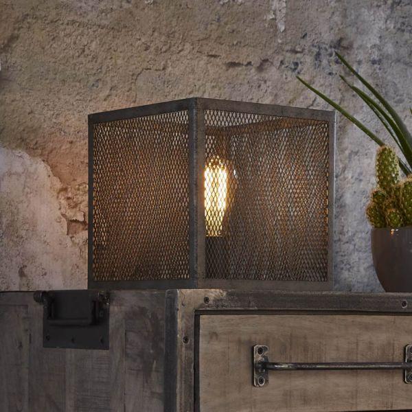 Tafellamp 25x25 raster - Oud zilver