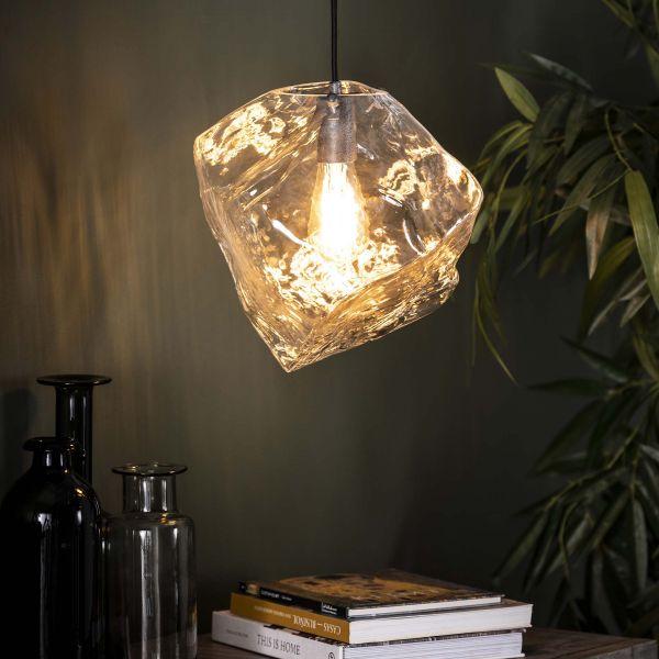 Hanglamp 1L rock clear - Transparant glas