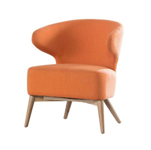 Fauteuil Curvo eiken - Orange