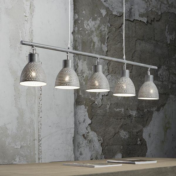 Hanglamp 5L aged iron - rijs