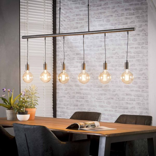 Hanglamp 6L buisframe - Charcoal