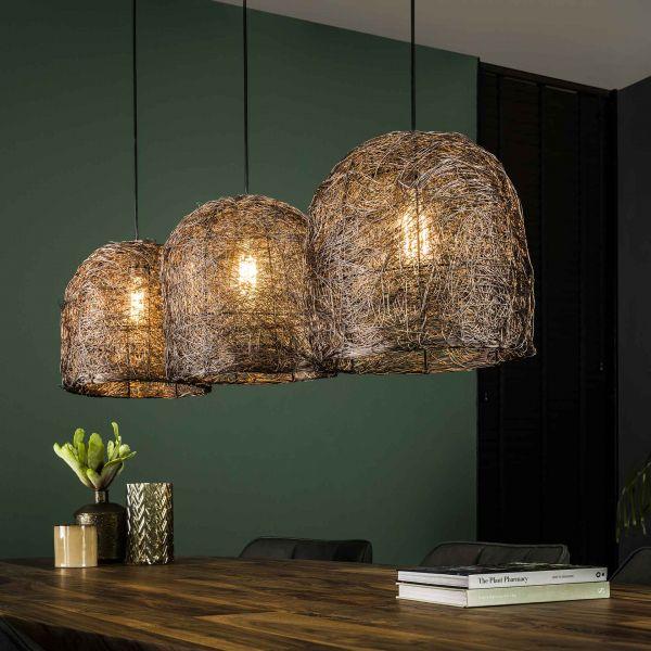 Hanglamp 3L haystack - Antiek koper finish