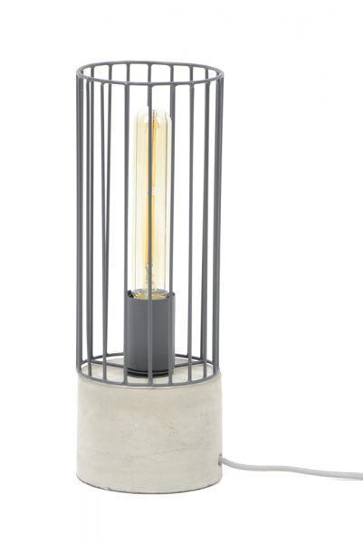 Tafellamp cilinder wire frame - Concrete