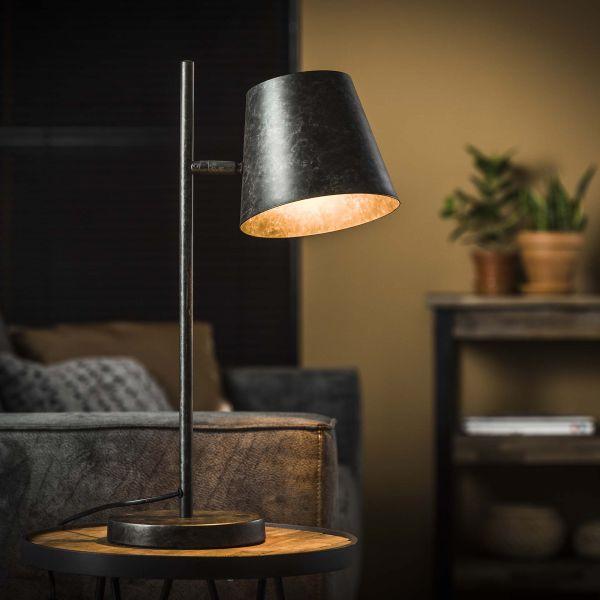 Tafellamp 1L verstelbare metalen kap - Charcoal