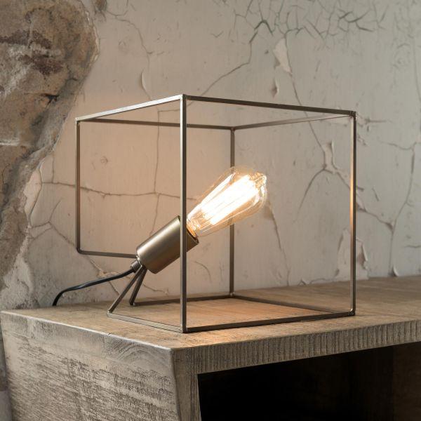 Tafellamp Cube. - Bronze antique