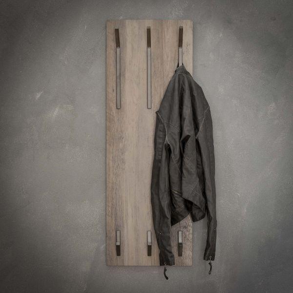 Kapstok 2x3 haken hoog - 3D eiken greywash