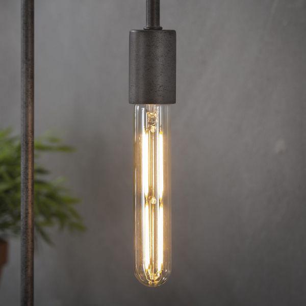 Lichtbron LED filament buis 18 5 cm - E27 4W 2100K 280lm dimbaar - Amberkleurig glas
