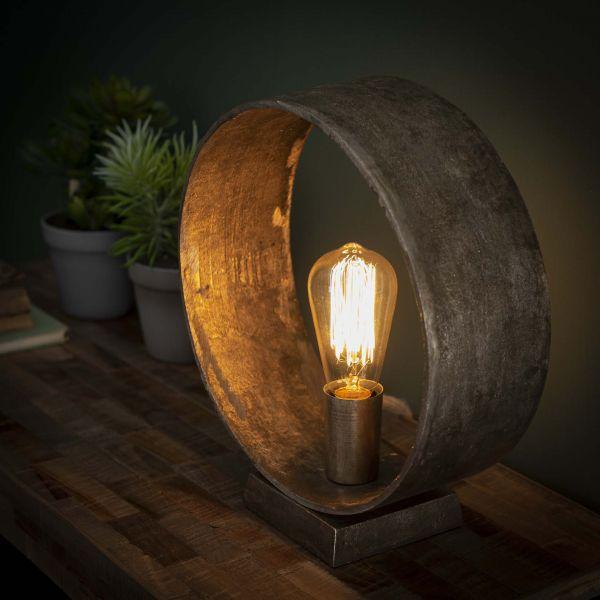 Tafellamp Loop - Antiek Nikkel