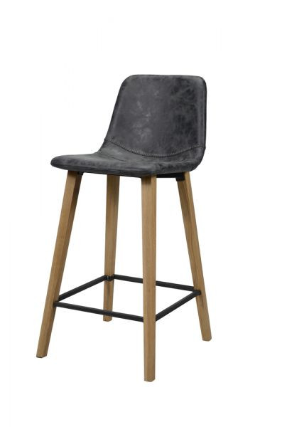 Barstoel kuip zig-zag stiknaad - Zwart