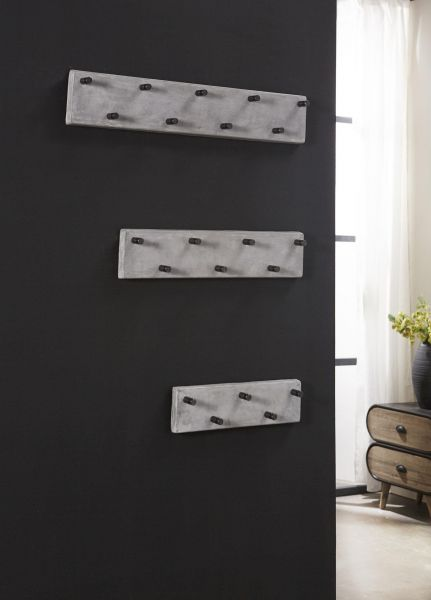 Garderobe 7 haaks RVS - Concrete