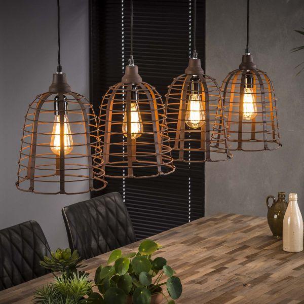 Hanglamp 4xØ26 kooi - Roestbruin