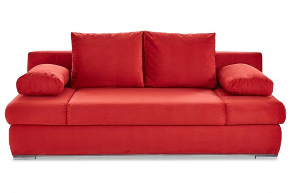 3 zits Bank Chiara New - met slaapfunctie - Rood
