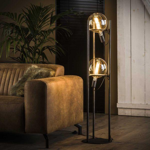 Vloerlamp 2L saturn Ø20 lichtbron - Oud zilver