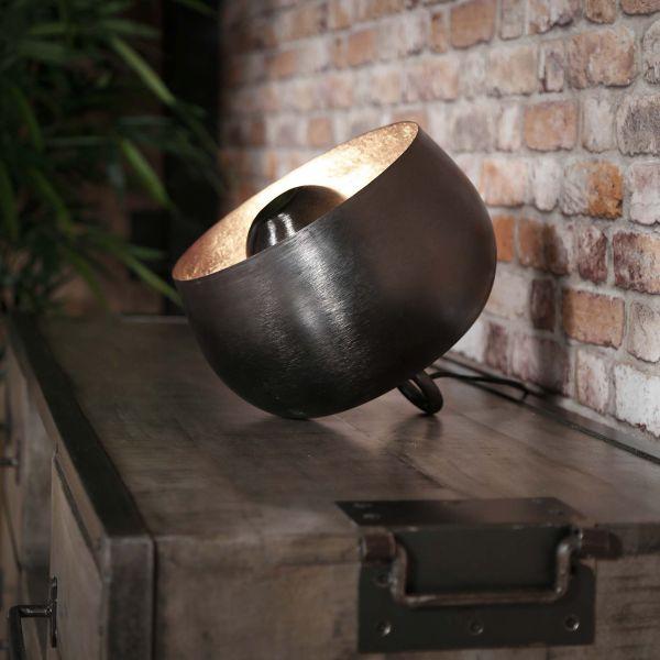 Tafellamp Ø28 basket - Zwart nikkel
