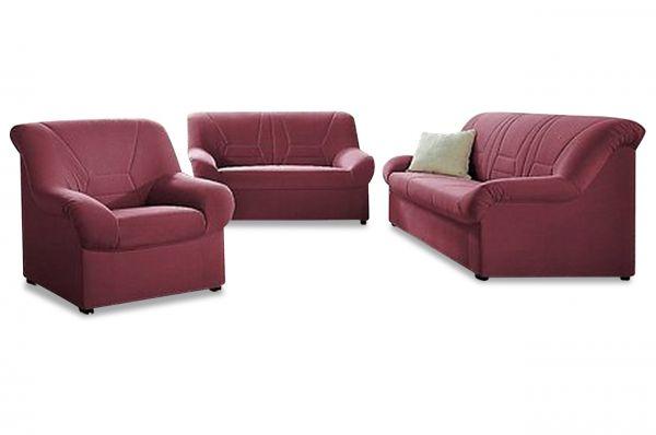 Bankstel 3+2 en fauteuil Neuss - Rood