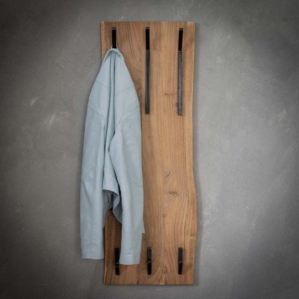 Kapstok edge 2x3 haken hoog - Massief acacia naturel