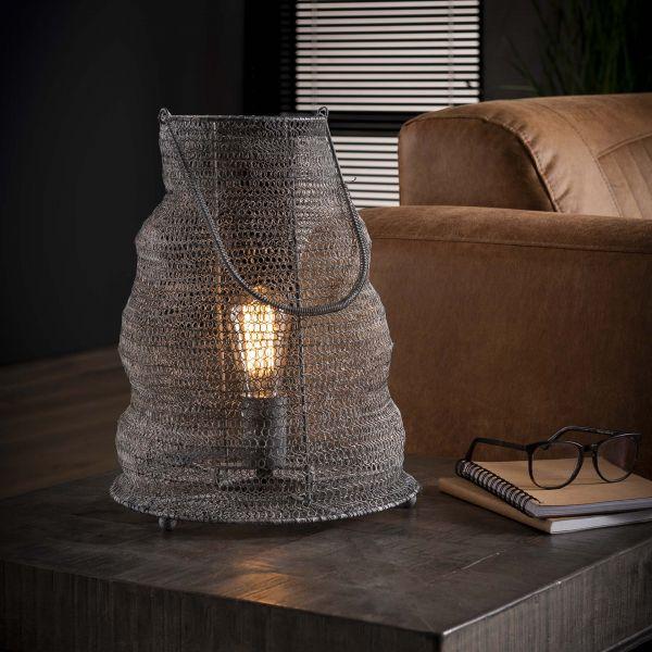 Tafellamp Ø30 mesh handvat - Grijs
