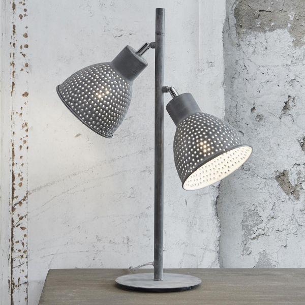 Tafellamp 2L aged iron - Grijs