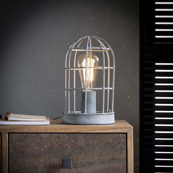 Tafellamp 1L Ø15 kooi - Grijs