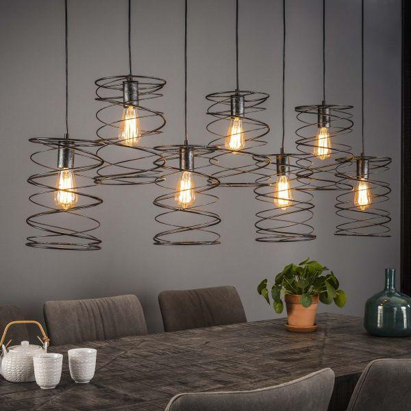 Hanglamp 7xØ20 curl - Charcoal