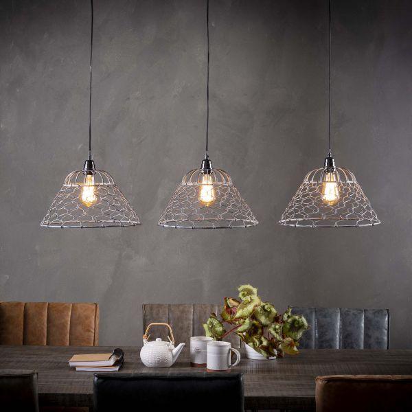 Hanglamp 3xØ35 gaas - Grijs