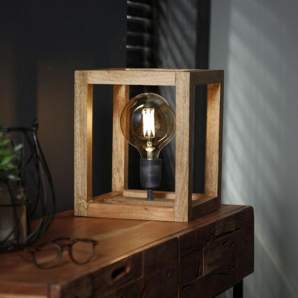 Tafellamp 25x25 houten frame