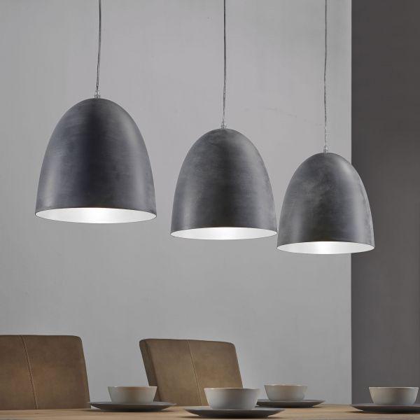 Hanglamp 3L industry 3 kappen - rijs