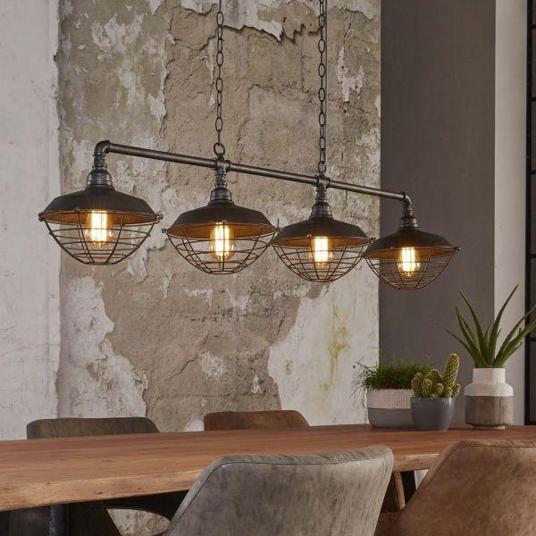 Hanglamp 4xØ25 industrial tube - Oud zilver