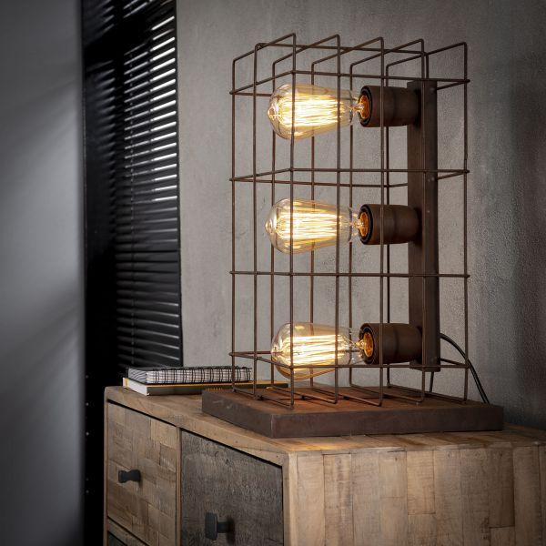 Tafellamp 3L kooi - Roestbruin