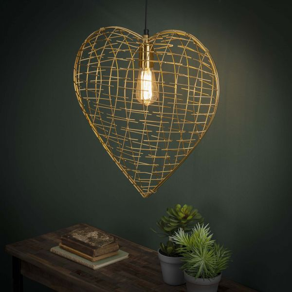 Hanglamp Heart of Gold - Goudkleurig