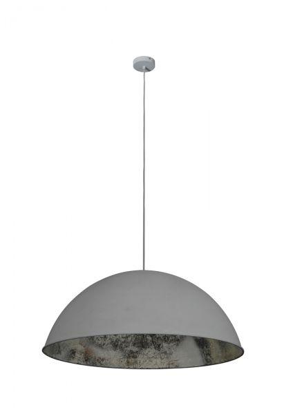 Hanglamp 1L ø80cm concrete - antique silver inside - Grijs