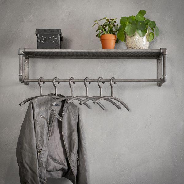 Kapstok roede industrial tube - Oud zilver