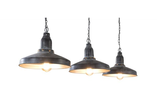 Hanglamp 3L industry aged - rijs