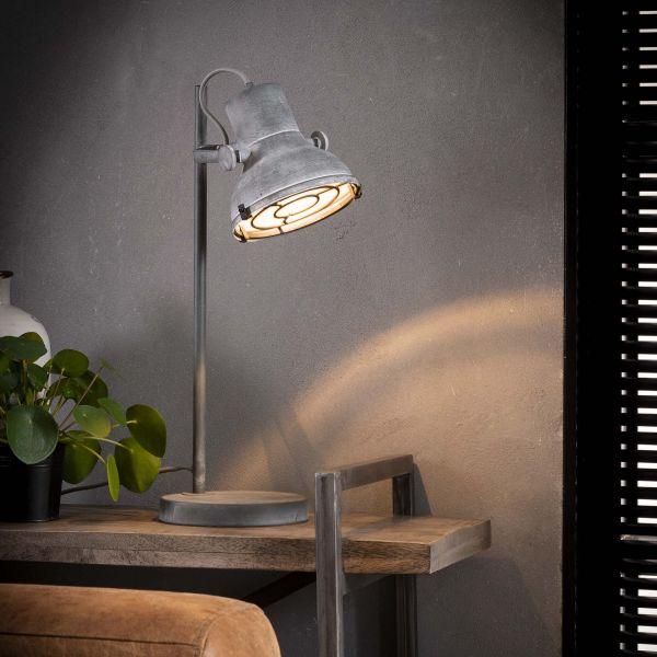 Tafellamp industrieel betonlook - Grijs