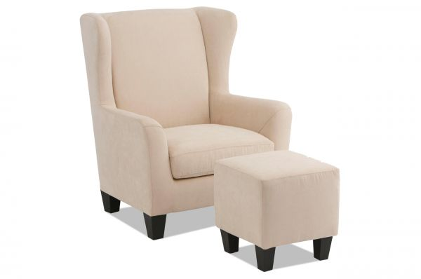 Notio Oorfauteuil Chilly met Hocker - Creme