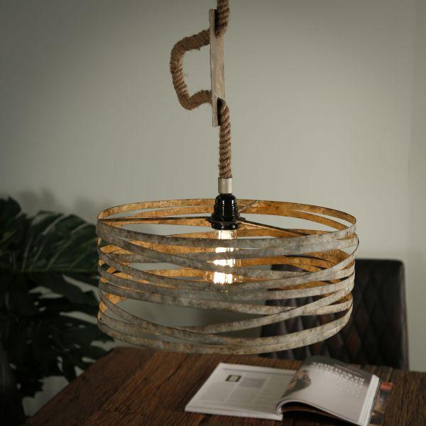 Hanglamp Ø40 twist verstelbaar touw