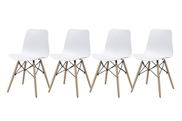 Eetkamerstoel - Wit (4-delige set)