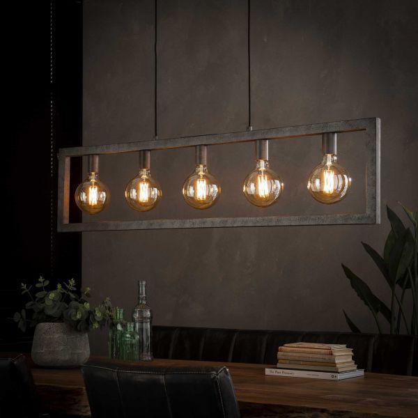 Hanglamp 5L steps - Oud zilver