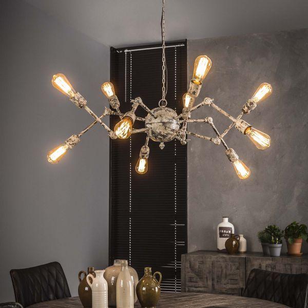 Hanglamp 10L spider - Verweerd koper