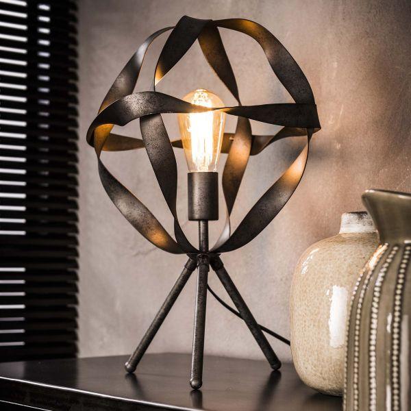 Tafellamp Ø30 twist - Oud zilver