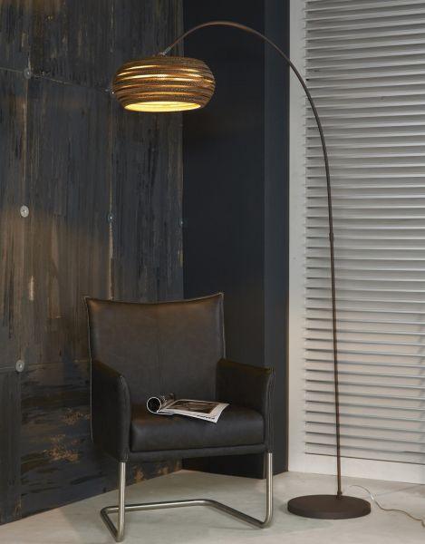 Vloerlamp boog 1L Carta - Bruin