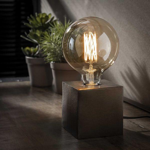 Tafellamp block-Zwart nikkel