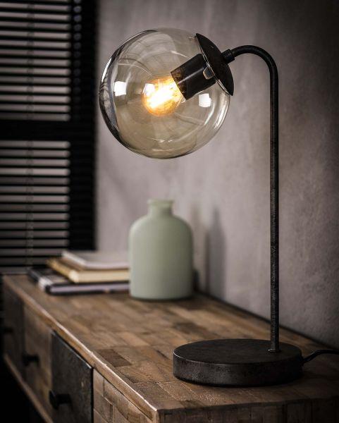 Tafellamp ronde bol - Oud zilver