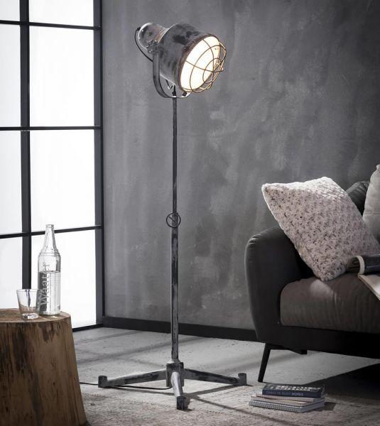 Vloerlamp iron raster - Grijs