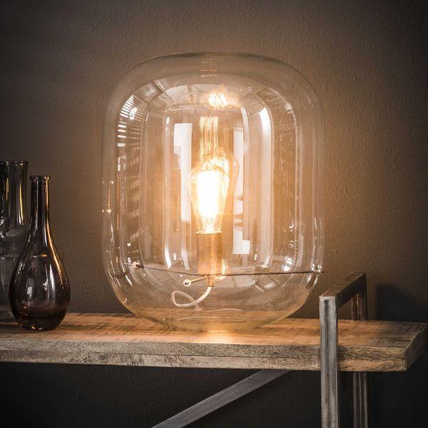 Tafellamp glazen kap - Transparant glas