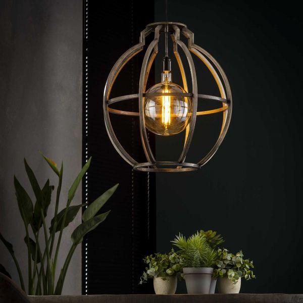 Hanglamp globo - Oud zilver