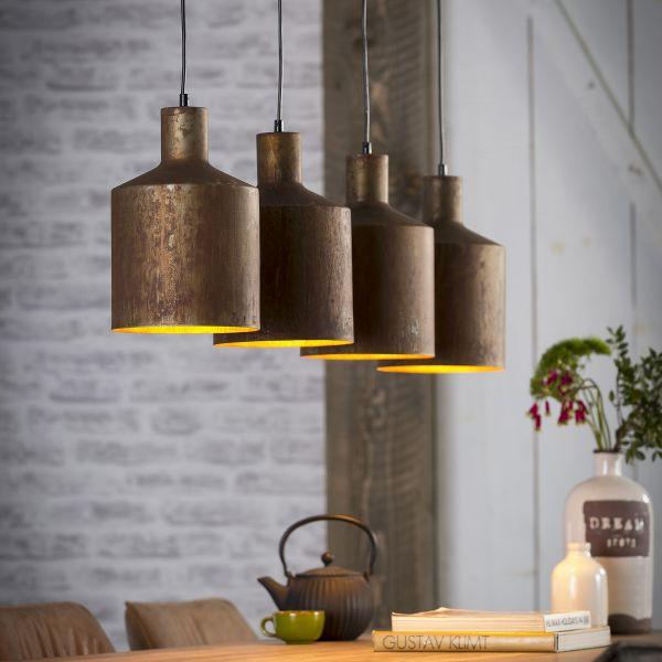 Hanglamp 4xØ20 kelk - Roestbruin
