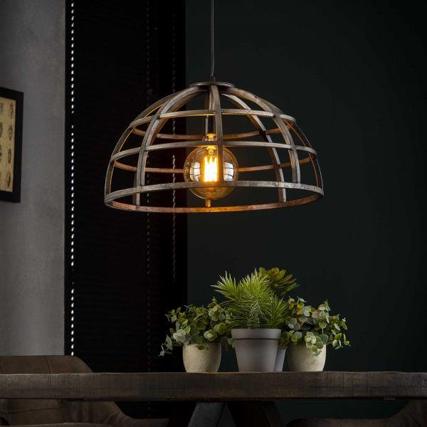 Hanglamp Ø50 dome - Oud zilver
